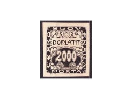 1919, 2000h, ZT v černé barvě, Nr.DL14, bez lepu