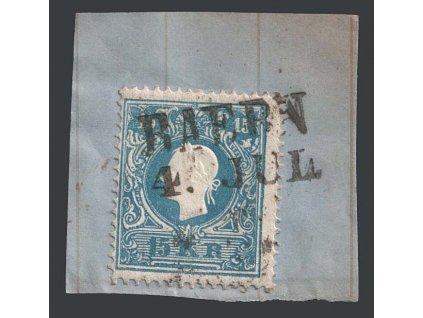 1858, 15 Kr Znak, razítko Baern, výstřižek, MiNr.15II