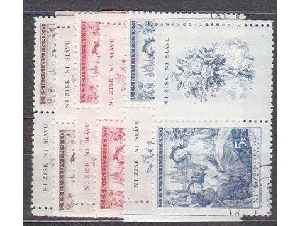 1948, 1.50-5Kčs Všesokolský slet, Nr.467-69, KL+KP, razítkované, ilustrační foto