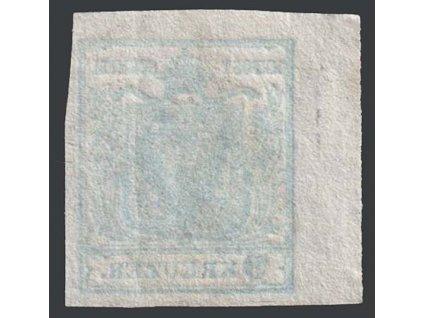 1850, 9 Kr Znak, rohový kus, obtisk, lom, MiNr.5, razítkované