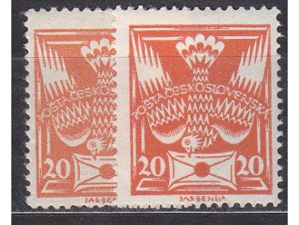 20h oranžová, I a II.typ, Nr.148, */**, ilustrační foto