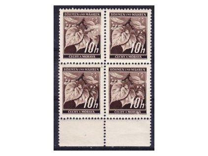 1939, 10h Ratolest, 4blok s DV - bod v písmenu &quot!M&quot!