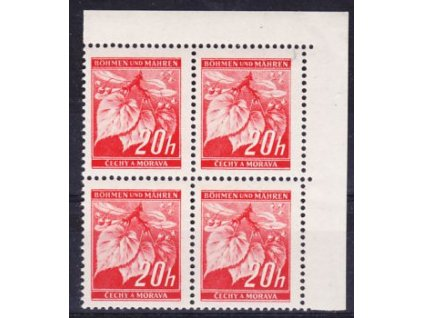 1939, 20h Ratolest, roh. 4blok s DV - tečka, **