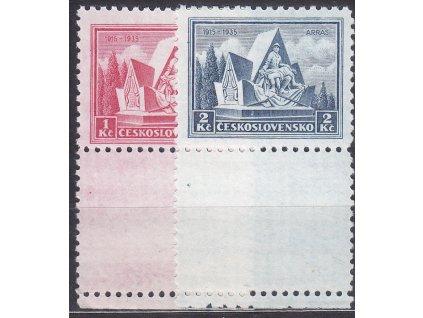 1-2Kč Arras, dolní kupony, Nr.289-290, **