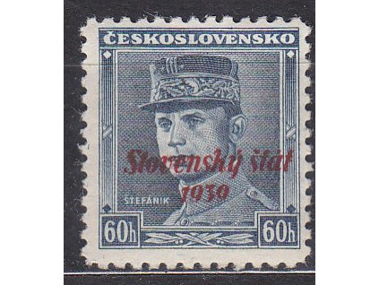 60h modrý Štefanik, Nr.11, * po nálepce