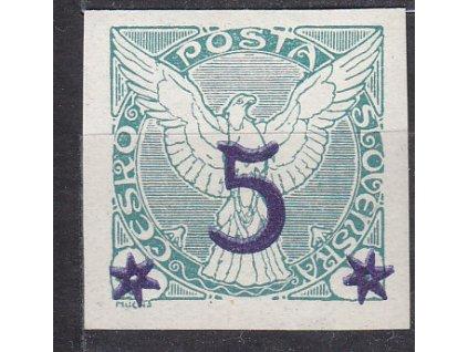 1925, 5/2h zelená, dvojitý přetisk, Nr.NV9, **