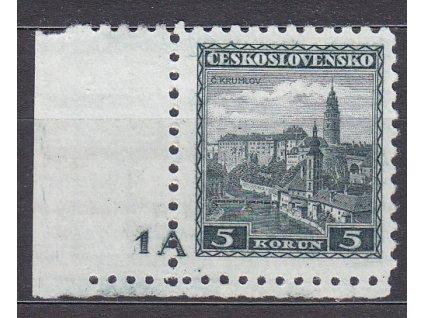 5Kč Krumlov, roh. kus s DČ 1A, Nr.267, **