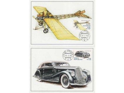 CM 105-106 Historické dopravní prostředky Automobil a letadlo