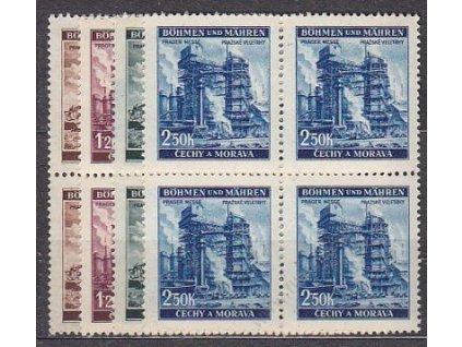 1941, 30h-2.50K Veletrhy, série, 4bloky, Nr.64-7
