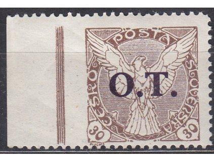 30h O.T., kraj. kus, ministr. Řz.11 1/2 - vlevo vynechané, Nr.OT3, **