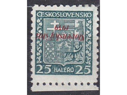 1939, 25h Znak, obrácený přetisk, ověřeno, Nr.5, * po nálepce