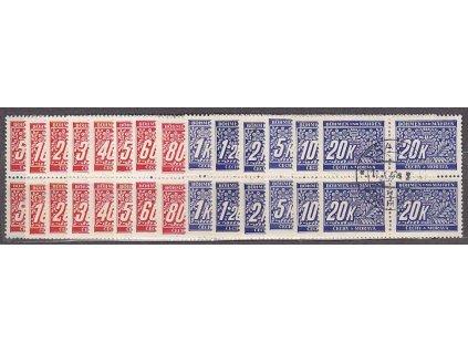 5h-20K série, 4bloky, Nr.DL1-14, razítkované