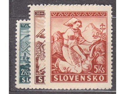 1939, 2-5Ks Lidové motivy, série, Nr.40-2, **, ilustrační foto