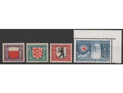 1928, 5-30C série Pro Juventute, MiNr.229-32, **