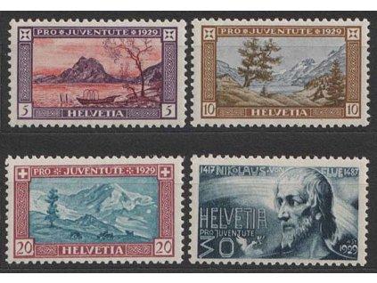 1929, 5-30C série Pro Juventute, MiNr.235-38, **