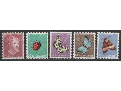 1952, 5-40C série Pro Juventute, MiNr.575-79, **