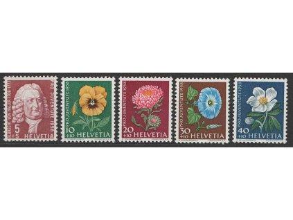 1958, 5-40C série Pro Juventute, MiNr.663-67, **