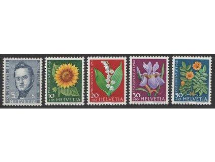 1959, 5-50C série Pro Juventute, MiNr.687-91, **