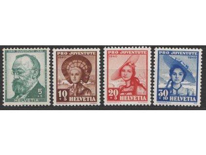 1939, 5-30C série Pro Juventute, MiNr.359-62, **