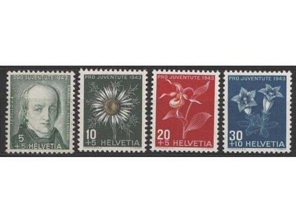1943, 5-30C série Pro Juventute, MiNr.424-27, **