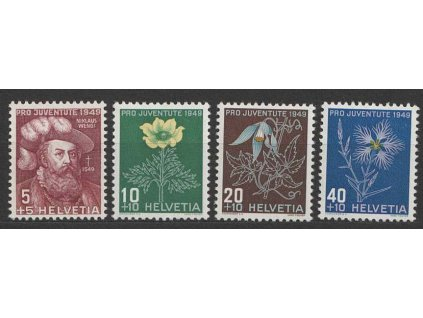 1949, 5-30C série Pro Juventute, MiNr.541-44, **