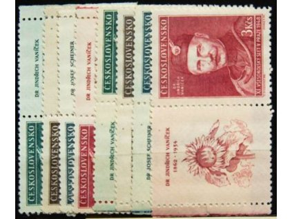 1948, 1-3Kčs Všesokolský slet, Nr.475-78, KL+KP, **