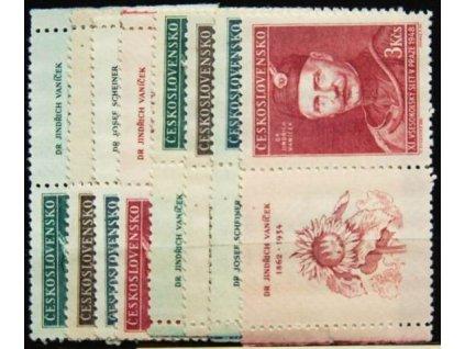 1948, 1-3Kčs Všesokolský slet (Portréty), Nr.475-78, KL+KP, **
