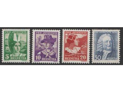 1934, 5-30C série Pro Juventute, MiNr.281-84, **