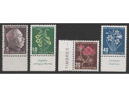 1948, 5-30C série Pro Juventute, MiNr.514-17, **