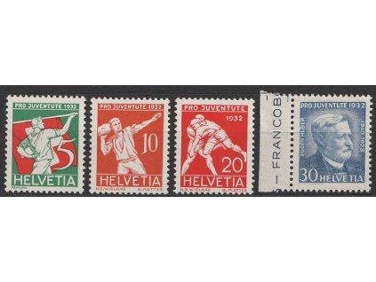 1932, 5-30C série Pro Juventute, MiNr.262-65, **