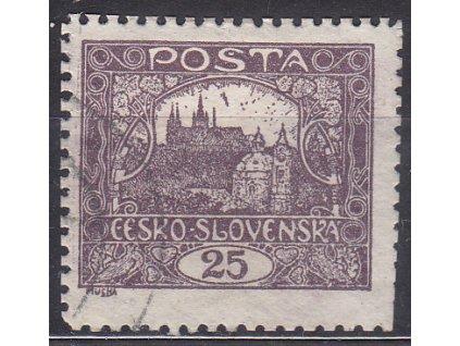 25h fialová, Řz.11 1/2, Nr.11D, razítkované, kzy