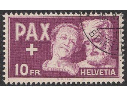 1945, 10 Fr PAX, MiNr.459, razítkované