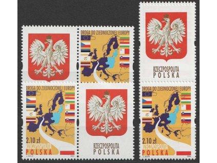 2004, 10 nových členů EU, Polsko, 4 kupony, **