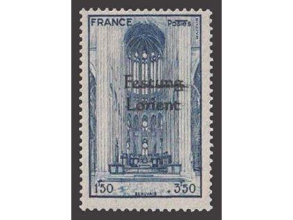 Francie, známka s přetiskem Festung Lorient, ** , bez záruky