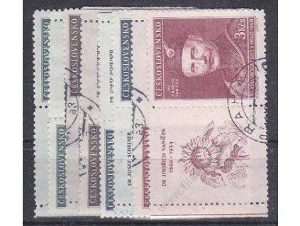 1948, 1-3Kčs Slet portréty, L+P kupon, Nr.475-8, razítkované