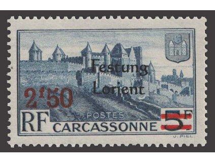 Francie, přetisk Festung Lorient, ** , bez záruky