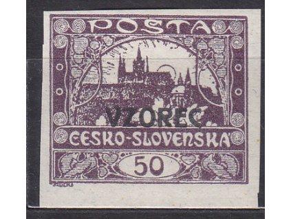 50h fialová, VZOREC, Nr.15vz, * po nálepce