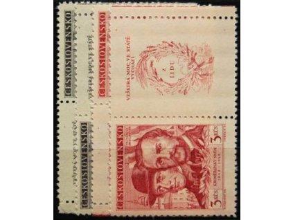 1948, 1.50-3Kčs Kroměřížský sněm, Nr.479-80, KL+KP, **
