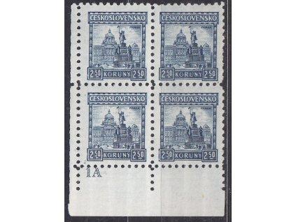 1926, 2.50Kč Praha, roh. 4blok s DČ1A, Nr.223, **