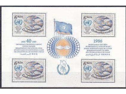 1985, aršík 6Kčs OSN, Nr.A2689, **