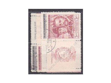 1948, 1.50-3Kčs Kroměříž, L+P kupon, Nr.479-80 raz
