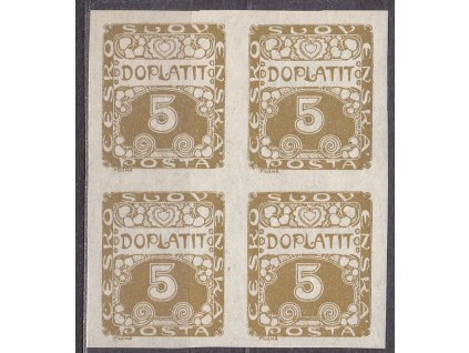 1919, 5h hnědoolivová, 4blok, ilustrační foto, **/*