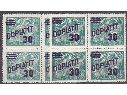 1926, 30h zelená, 2 kusy 4bloků - odstíny barev, Nr.DL42, **, ilustrační foto