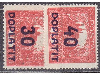 1922, 30/15 a 40/15h cihlově červené, zoubkované, nejlevnější varianty, Nr.DL29,30, **, ilustrační foto