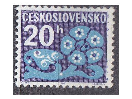 1971, 20h Doplatní, papír oz, Nr.D93xb, **, vzácná známka