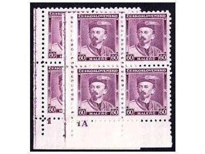 1933, 60h Tyrš, 2 roh. 4bloky s DČ 1 a 1A, Nr.272, **