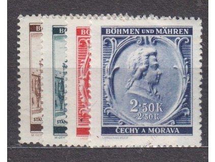 1941, 30h-2.50K Mozart, série, Nr.68-71, **
