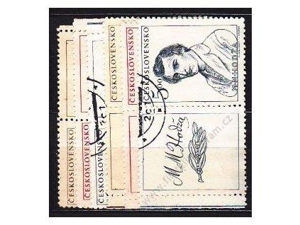 1948, 1.50-5Kčs Slov. Povstání, L+P kupon, 481-3, razítkované