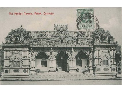 Ceylon, 1910, DR Colombo, pohlednice zaslaná v místě