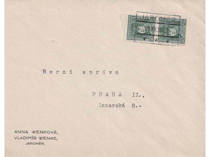1939, 29.12., DR Jaroměř, dopis zaslaný do Prahy